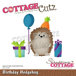 Cottage Cutz - Die - Birthday Hedgehog