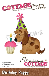 Cottage Cutz - Die - Birthday Puppy