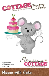 Cottage Cutz - Die - Mouse w/ Cake