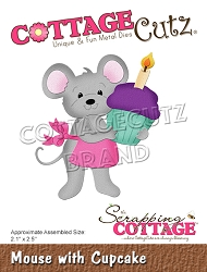 Cottage Cutz - Die - Mouse w/ Cupcake