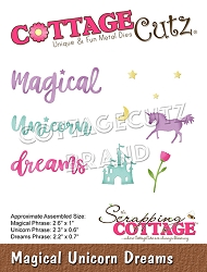 Cottage Cutz - Die - Magical Unicorn Dreams