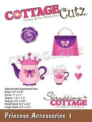 Cottage Cutz - Die - Princess Accessories 1