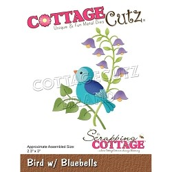 Cottage Cutz - Die - Bird w/ Bluebells