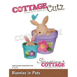 Cottage Cutz - Die - Bunnies In Pots