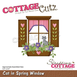 Cottage Cutz - Die - Cat In Spring Window