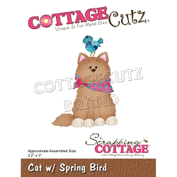 Cottage Cutz - Die - Cat w/ Spring Bird