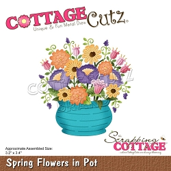 Cottage Cutz - Die - Spring Flowers In Pot