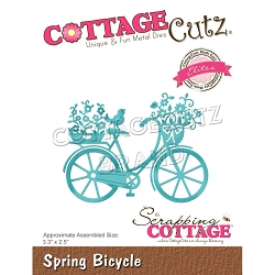 Cottage Cutz - Die - Spring Bicycle