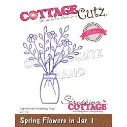 Cottage Cutz - Die - Spring Flowers In Jar #1
