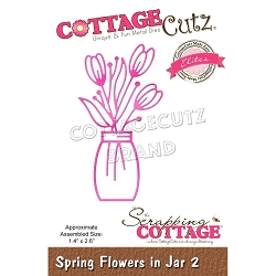 Cottage Cutz - Die - Spring Flowers In Jar #2