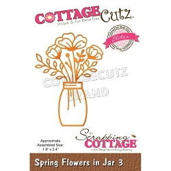 Cottage Cutz - Die - Spring Flowers In Jar #3