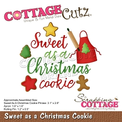 Cottage Cutz - Die - Sweet as a Christmas Cookie