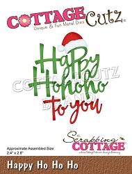 Cottage Cutz - Die - Happy Ho Ho Ho