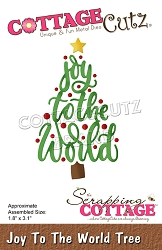 Cottage Cutz - Die - Joy To The World Tree