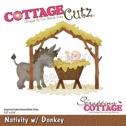 Cottage Cutz - Die - Nativity w/ Donkey