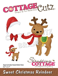 Cottage Cutz - Die - Sweet Christmas Reindeer