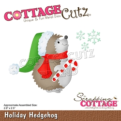 Cottage Cutz - Die - Holiday Hedgehog