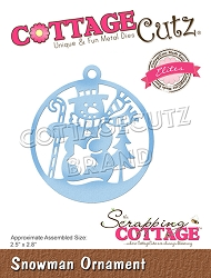 Cottage Cutz - Die - Snowman Ornament (Elites)