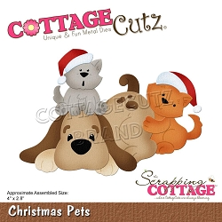 Cottage Cutz - Die - Christmas Pets