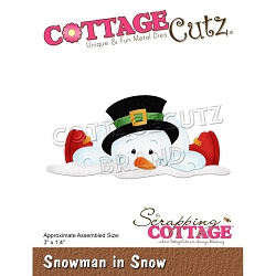Cottage Cutz - Die - Snowman In Snow