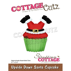 Cottage Cutz - Die - Upside Down Santa Cupcake