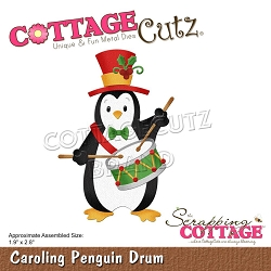 Cottage Cutz - Die - Caroling Penguin Drum