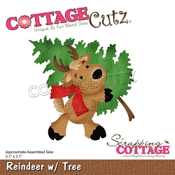 Cottage Cutz - Die - Reindeer w/Tree