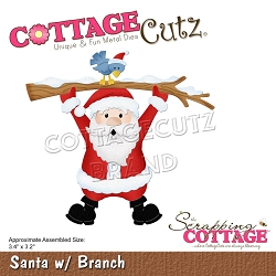 Cottage Cutz - Die - Santa w/Branch