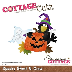 Cottage Cutz - Die - Spooky Ghost & Crow