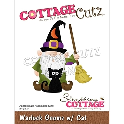 Cottage Cutz - Die - Warlock Gnome w/Cat
