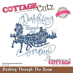 Cottage Cutz - Die - Dashing Through The Snow