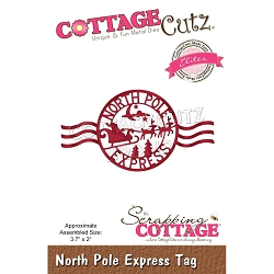 Cottage Cutz - Die - North Pole Express Tag