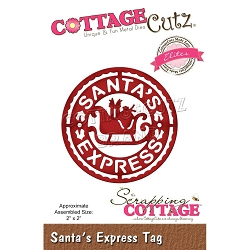 Cottage Cutz - Die - Santa's Express Tag