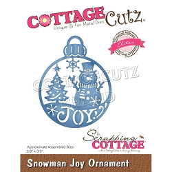 Cottage Cutz - Die - Snowman Joy Ornament