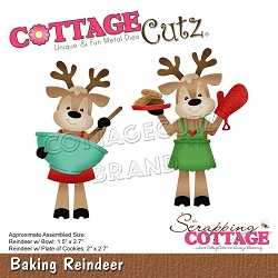 Cottage Cutz - Die - Baking Reindeer