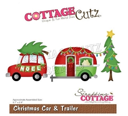Cottage Cutz - Die - Christmas Car & Trailer
