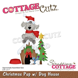 Cottage Cutz - Die - Christmas Pup w/ Dog House