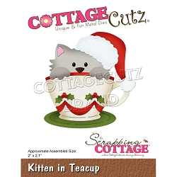 Cottage Cutz - Die - Kitten In Teacup