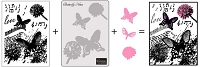 Couture Creations - Dream Boat 3-in-1 Die/Stamp/Embossing Folder Set - Butterfly Notes