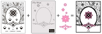 Couture Creations - Dream Boat 3-in-1 Die/Stamp/Embossing Folder Set - Floral Wreath