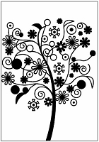 Couture Creations - 5x7 Embossing Folder - Serenity Far Away Tree :)