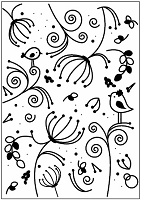 Couture Creations - 5x7 Embossing Folder - Serenity Encaustic :)