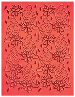 Couture Creation - Embossing Folder - (A2) Wrapped In Joy - A Songbird's Poinsettia