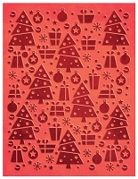 Couture Creation - Embossing Folder - (A2) Wrapped In Joy - Joyful Christmas