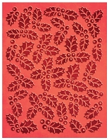 Couture Creation - Embossing Folder - (A2) Wrapped In Joy - Champagne & Holly