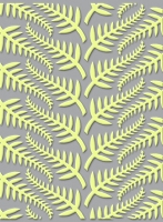 Craft Concepts - A2 Embossing Folder - All Dressed Up Silver Fern