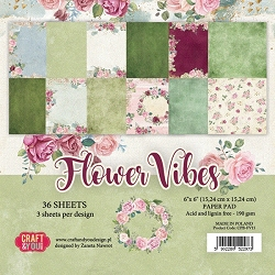 Craft & You - Flower Vibes 6x6 Paper Pad