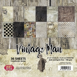 Craft & You - Vintage Man 6x6 Paper Pad