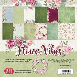 Craft & You - Flower Vibes 12x12 collection kit