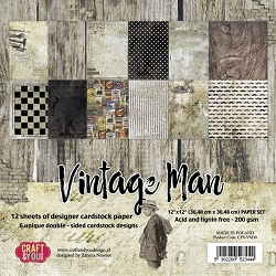 Craft & You - Vintage Man 12x12 collection kit